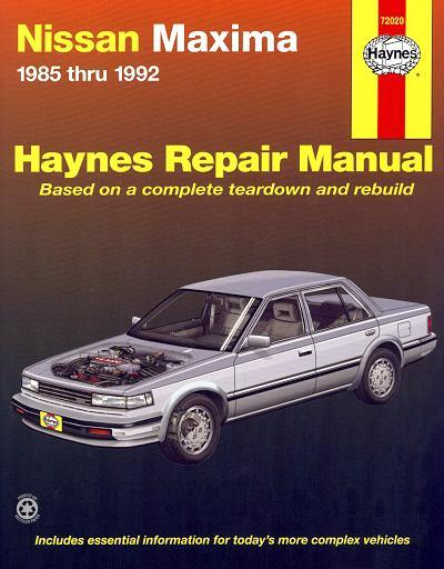 Nissan Maxima 1985 - 1992 Haynes Owners Service & Repair Manual