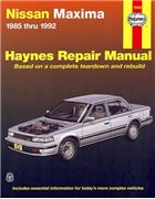 Nissan Maxima 1985 - 1992 Haynes Owners Service & Repair Manual - Front Cover