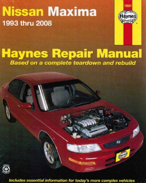 Nissan Maxima A32 / A33 1993 - 2008 Haynes Owners Service & Repair Manual