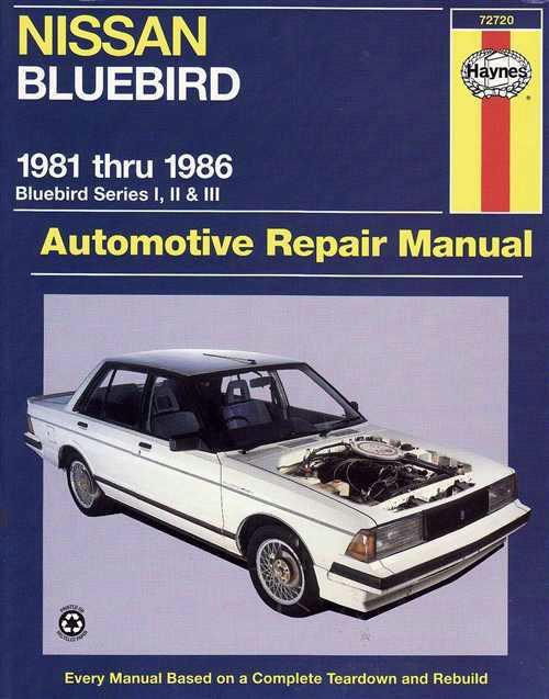 Nissan Bluebird Series 1, 2 & 3 1981- 1986 Haynes Owners Service & Repair Manual - Front Cover
