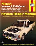 Nissan Navara D21 & Pathfinder 1986 - 1996 Haynes Owners Service & Repair Manual