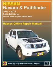 Nissan Navara D40 & Nissan Pathfinder R51 2WD & 4WD Petrol & Diesel 2005 - 2015