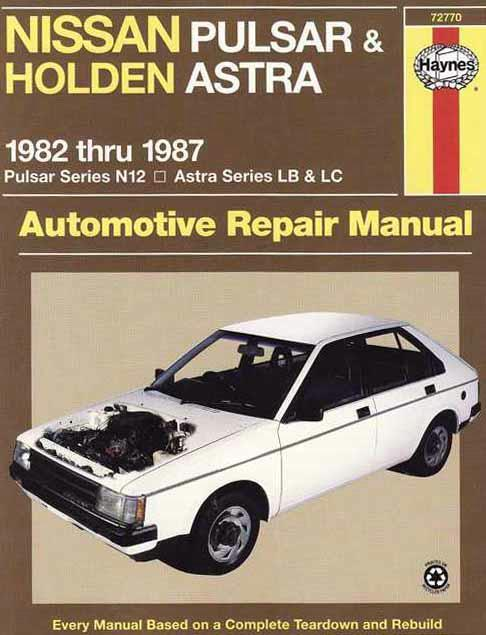Nissan Pulsar N12 & Holden Astra LB & LC 1982 - 1987 - Front Cover