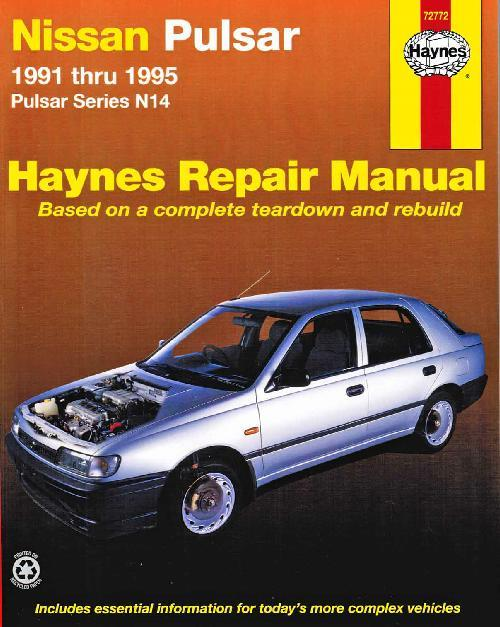 Nissan Pulsar N14 1991 - 1995 Haynes Owners Service & Repair Manual - Front Cover
