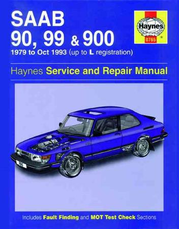 Saab 90, 99 & 900 1979 - 1993 Haynes Owners Service & Repair Manual - Front Cover