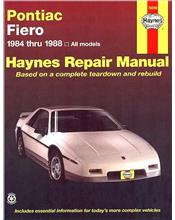 Pontiac Fiero 1984 - 1988 Haynes Owners Service & Repair Manual