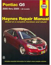 Pontiac G6 2005 - 2009 Haynes Owners Service & Repair Manual