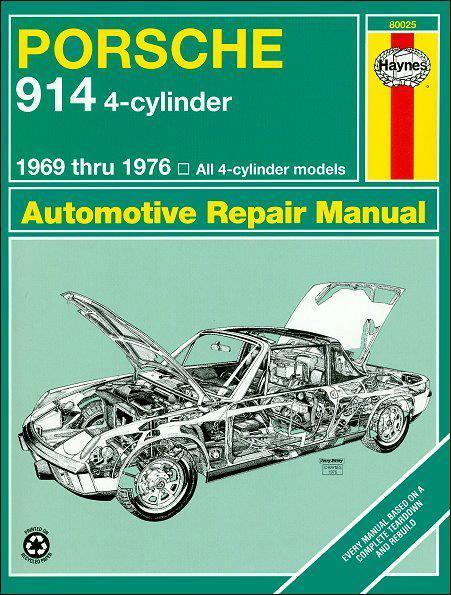 Porsche 914 4 Cylinder 1969 - 1976 Haynes Owners Service & Repair Manual - Front Cover