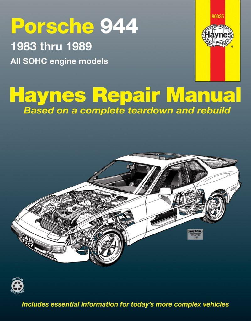 Porsche 944 1983 - 1989 Haynes Owners Service & Repair Manual - Front Cover