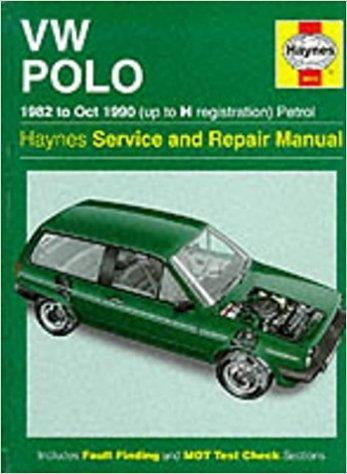 Volkswagen Polo 1982 - 1990 Haynes Service and Repair Manual - Front Cover