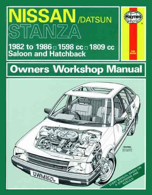 Nissan Stanza 1982 - 1986 Haynes Owners Service & Repair Manual - Front Cover
