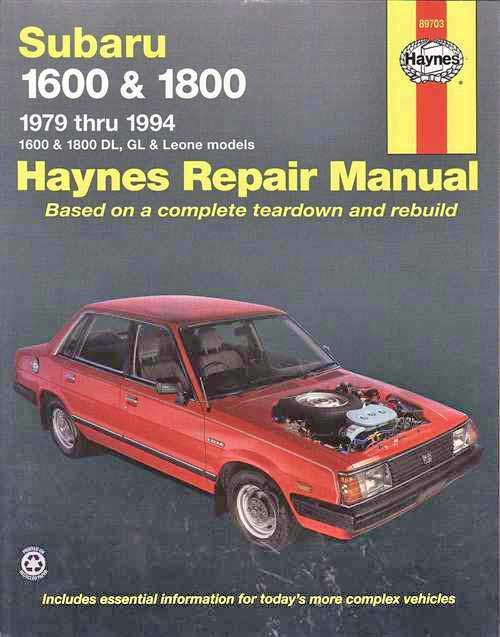 Subaru 1600 & 1800 1979 - 1994 Haynes Owners Service & Repair Manual - Front Cover