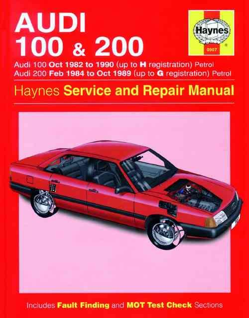 Audi 100 & 200 1982 - 1990 Haynes Owners Service & Repair Manual