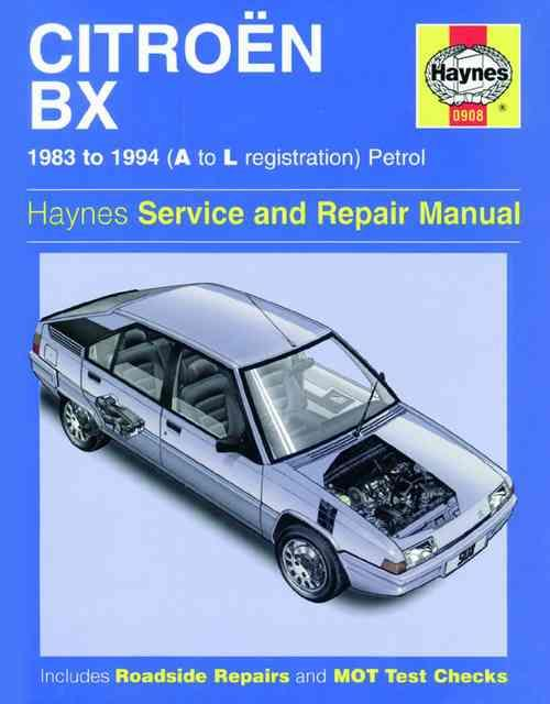 Citroen BX Petrol 1983 - 1994 Haynes Owners Service & Repair Manual