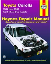 Toyota Corolla (FWD) 1984 - 1992 Haynes Owners Service & Repair Manual