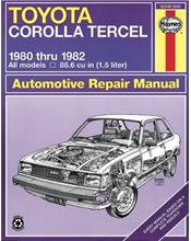 Toyota Corolla Tercel 1980 - 1982 Haynes Owners Service & Repair Manual