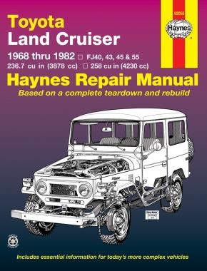 Toyota Land Cruiser Petrol 1968 - 1982 Haynes Owners Service & Repair Manual