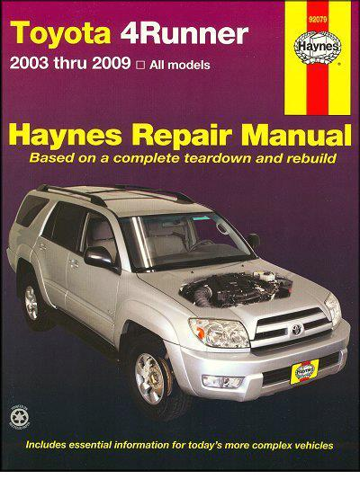 Toyota 4Runner 2003 - 2009 Haynes Owners Service & Repair Manual - Front Cover
