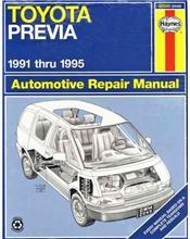 Toyota Previa (Tarago) 1991 - 1995 Haynes Owners Service & Repair Manual