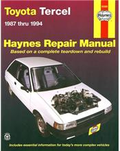 Toyota Tercel 1987 - 1994 Haynes Owners Service & Repair Manual