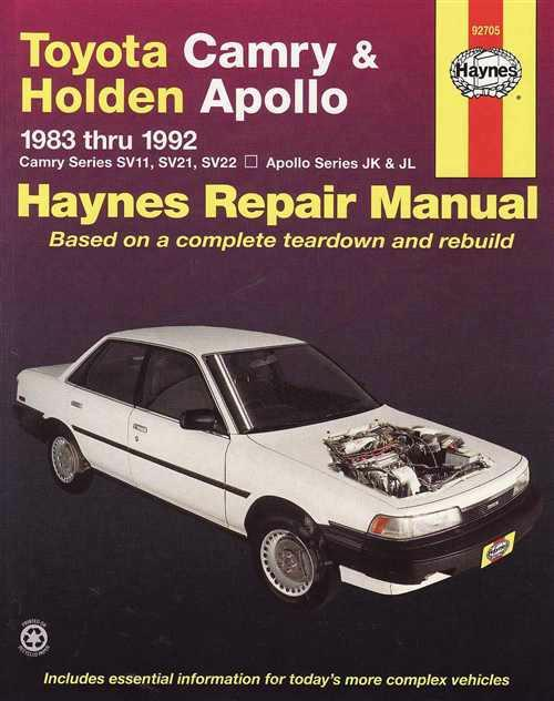 Toyota Camry & Holden Apollo 1983 - 1992 Haynes Owners Service & Repair Manual