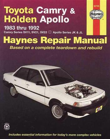 Toyota Camry & Holden Apollo 1983 - 1992 Haynes Owners Service & Repair Manual - Front Cover