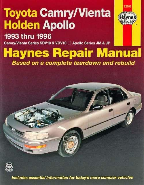 Toyota Camry / Vienta & Holden Apollo 1993 - 1996 - Front Cover