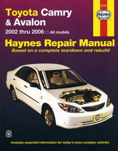 Toyota Camry & Avalon 2002 - 2006 Haynes Owners Service & Repair Manual - Front Cover