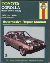 Toyota Corolla KE70 (RWD) 1981 - 1984 Haynes Owners Service & Repair Manual