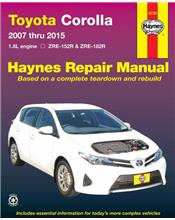 Toyota Corolla 2007 - 2015 Haynes Owners Service & Repair Manual