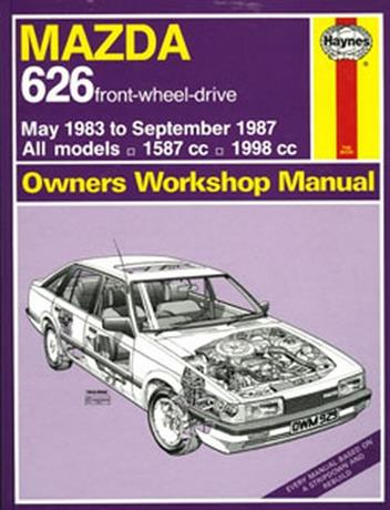 Mazda 626 May 1983 - Sept 1987 Haynes Owners Workshop Manual - Front Cover
