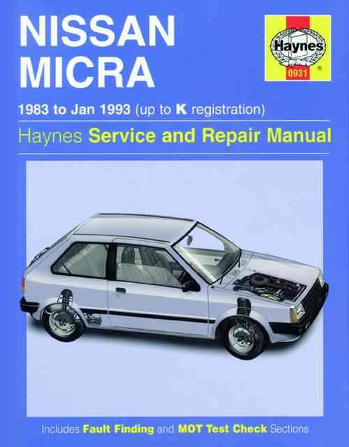 Nissan Micra 1983 - 1993 Haynes Owners Service & Repair Manual