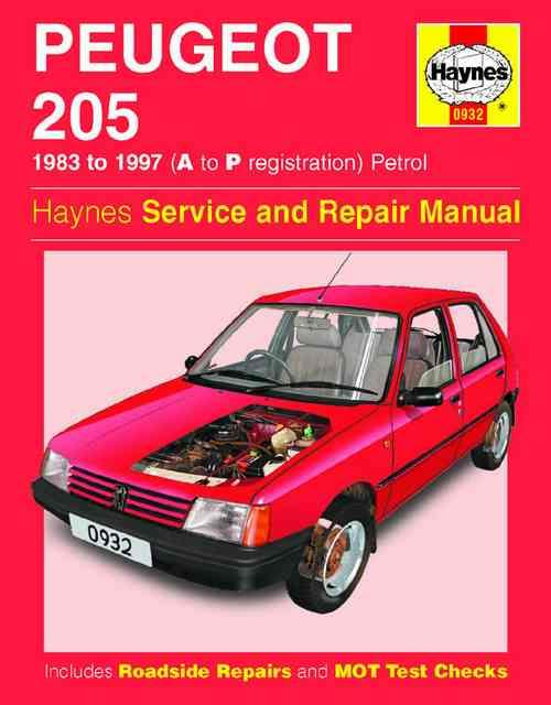 Peugeot 205 Petrol 1983 - 1997 Haynes Owners Service & Repair Manual