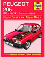 Peugeot 205 (Petrol) 1983 - 1997 Haynes Owners Service & Repair Manual