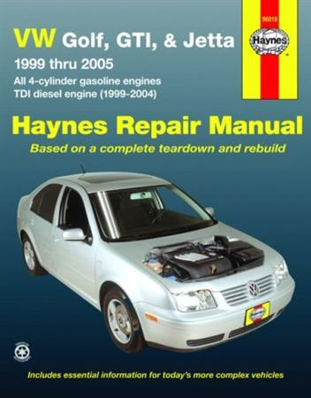 Volkswagen VW Golf, GTI & Jetta 1999-2005 Haynes Owners Service & Repair Manual - Front Cover