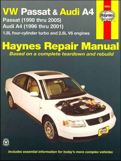 VW Volkswagen Passat & Audi A4 1996 - 2005 Haynes Owners Service & Repair Manual