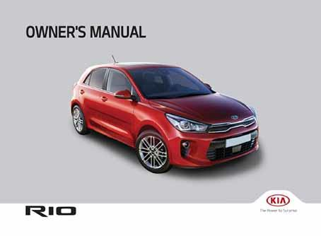 Kia Rio YB 2017 Owner Manual