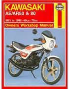 Kawasaki AE/AR 50 & 80 1981 - 1995 Haynes Owners Service & Repair Manual - Front Cover