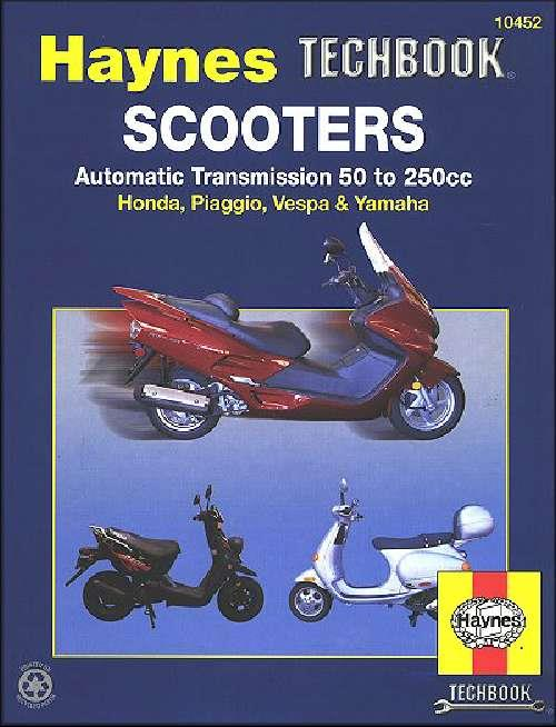 Scooters Automatic Transmission 50cc to 250cc Manual : Haynes Techbook - Front Cover