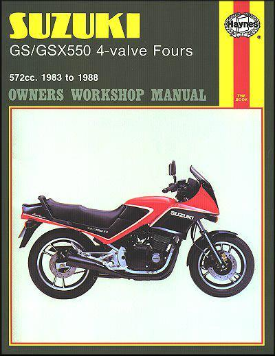 Suzuki GS/GSX550 4-valve Fours 1983 - 1988 Haynes Owners Service & Repair Manual - Front Cover