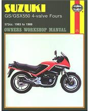 Suzuki GS/GSX550 4-valve Fours 1983 - 1988 Haynes Owners Service & Repair Manual