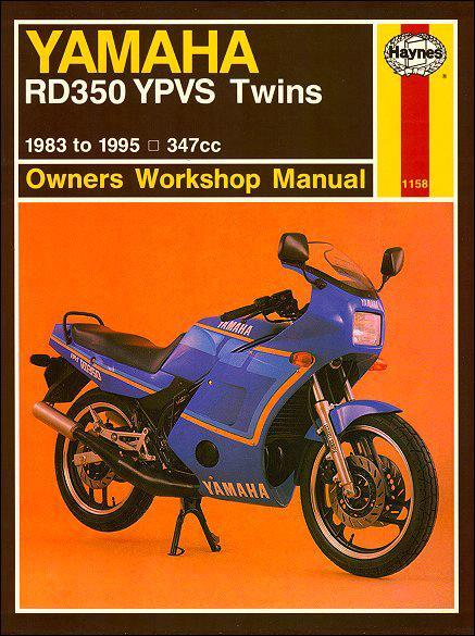 Yamaha RD350 YPVS Twins 1983 - 1995 Haynes Owners Service & Repair Manual - Front Cover