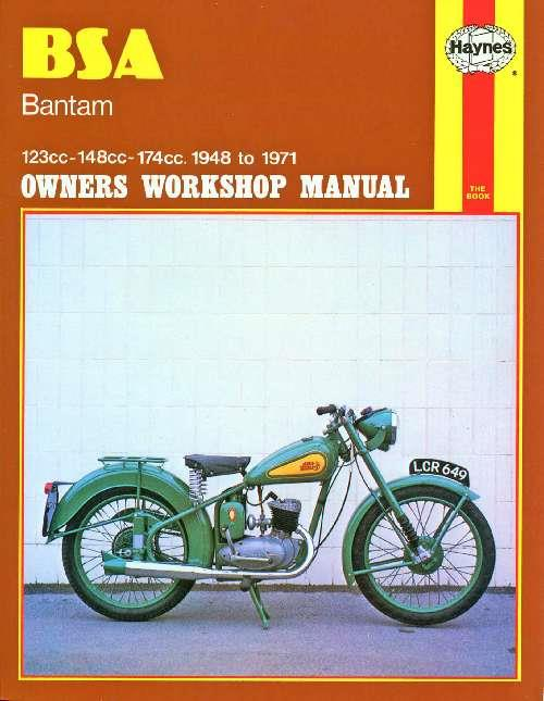 BSA Bantam 1948 - 1971 Haynes Owners Service & Repair Manual - Front Cover