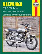 Suzuki 250 & 350 Twins 1968 - 1978 Haynes Owners Service & Repair Manual