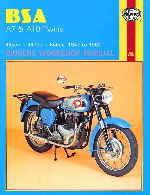 BSA A7 & A10 Twins 1947 - 1962 Haynes Owners Service & Repair Manual - Front Cover