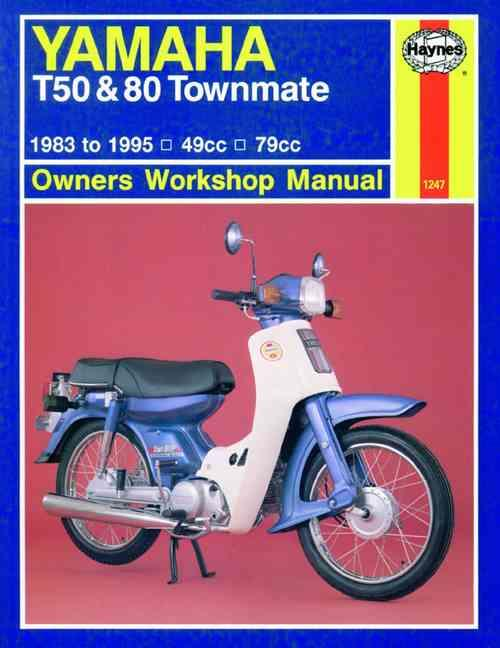 Yamaha T50 and 80 Townmate 1983 - 1995 Haynes Owners Service & Repair Manual - Front Cover