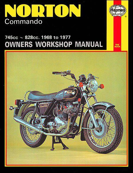 Norton Commando 1968 - 1977 Haynes Owners Service & Repair Manual - Front Cover