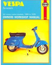 Vespa Scooters 1959 - 1978 Haynes Owners Service & Repair Manual