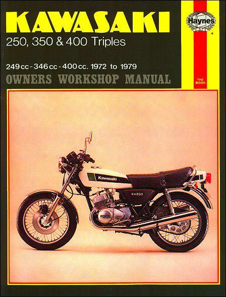 Kawasaki 250, 350 & 450 Triples 1972-1979 Haynes Owners Service & Repair Manual - Front Cover