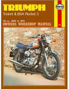 Triumph Trident & BSA Rocket 3 1969 - 1975 Haynes Owners Service & Repair Manual - Front Cover